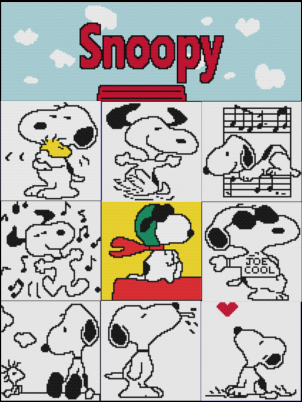 Snoopy Inspired Basic Cal