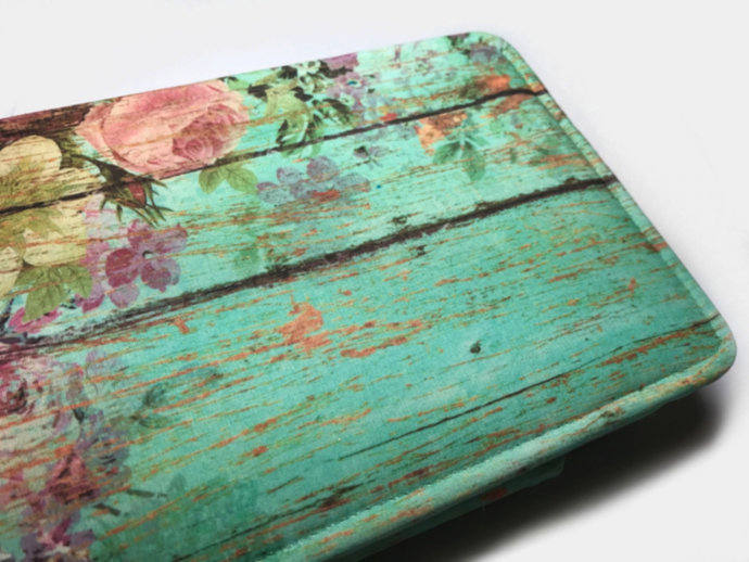 Aqua Shabby Floral tablet case for Galaxy Tab Ipad case Asus Zenpad case Amazon