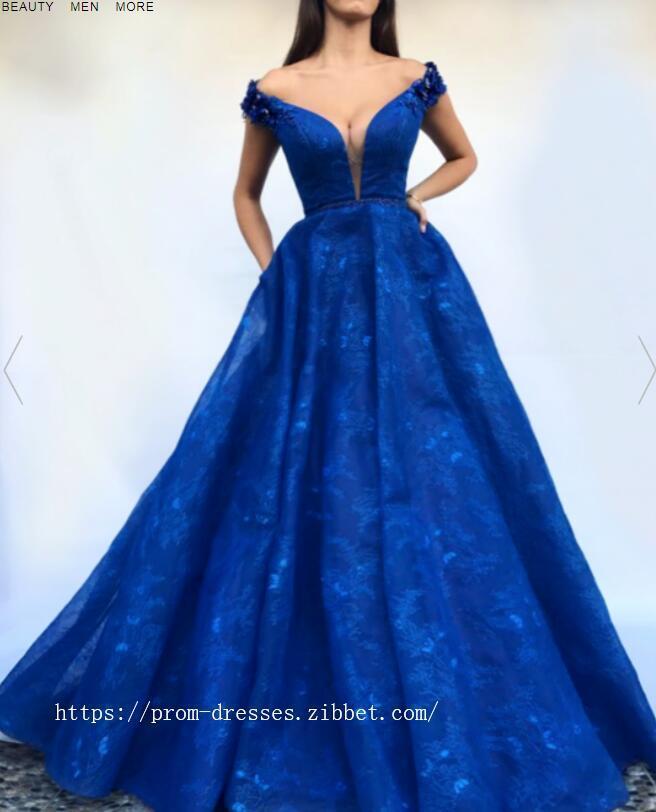 High Quality, Charming V Neckline,Sexy Off Shoulder ,A Line Prom Dress , Floor