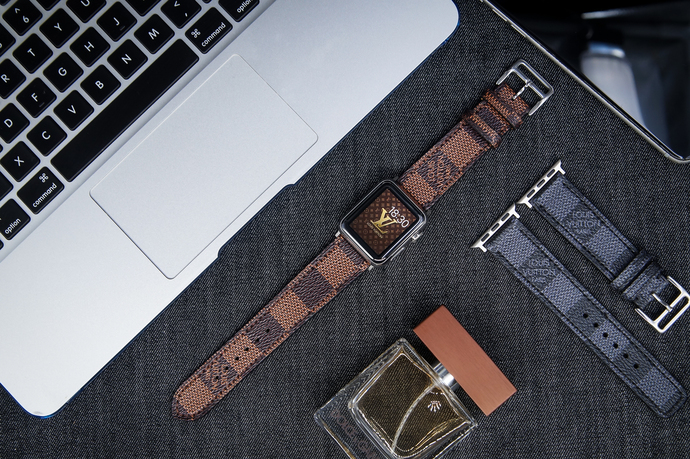 8ca98def308 LV Apple Watch Band Louis Vuitton iwatch by CeliniDesign on Zibbet