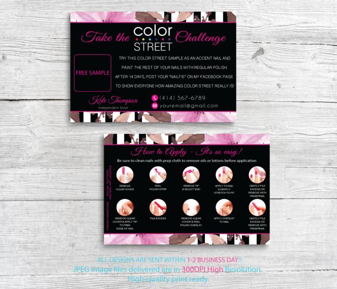 Color Street Twosie Card, Color Street Challenge, Color Street Free Sample,