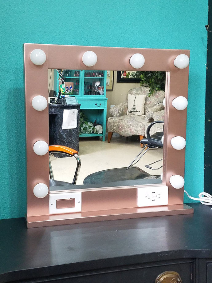 Rose Gold 24 X 24 Hollywood Style By Glamour Mirrors On Zibbet