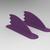Fish Fins Pair - Purple