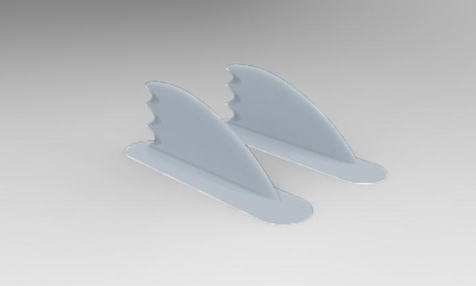Fish Fins Pair - Silver