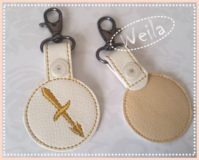 Sagittarius Zodiac sign key fob Keychain - horoscope Embroidery Machine Design