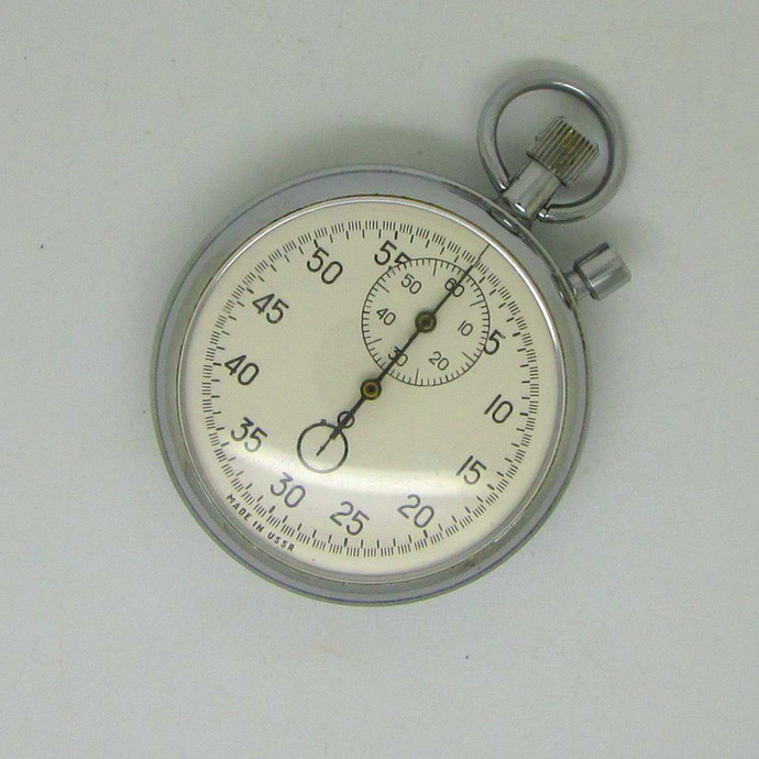 Vintage Soviet Russian Mechanical 2 Button Stop Watch AGAT, Made in USSR 1980s |