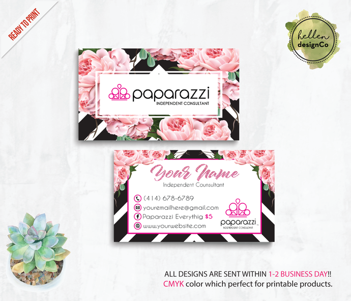 Personalized Paparazzi Business Cards, Paparazzi Business Cards, Paparazzi