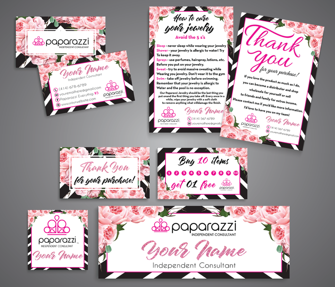 Paparazzi Marketing Kit, Paparazzi Jewelry Consultant Branding Set, Paparazzi
