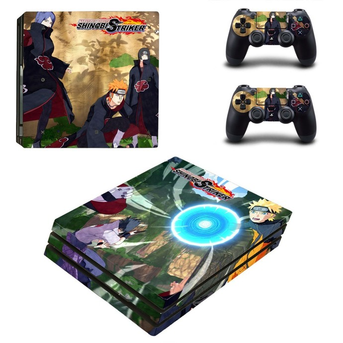 Naruto to Boruto PS4 PRO edition skin Sticker decal Console and controllers