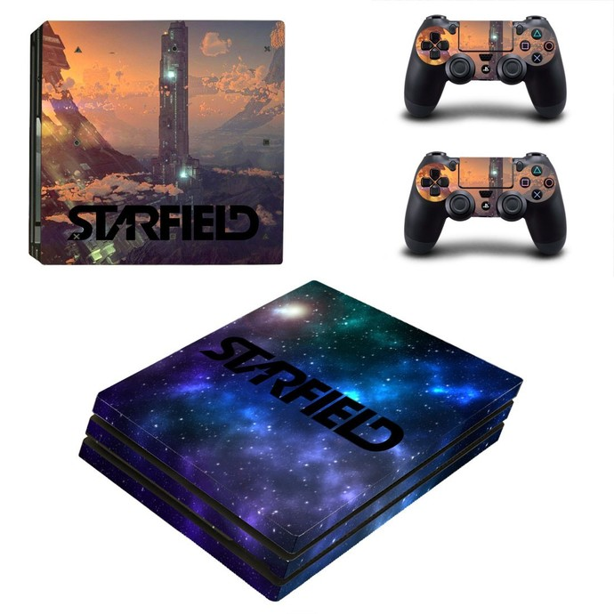 Starfield PS4 PRO edition skin Sticker decal Console and controllers