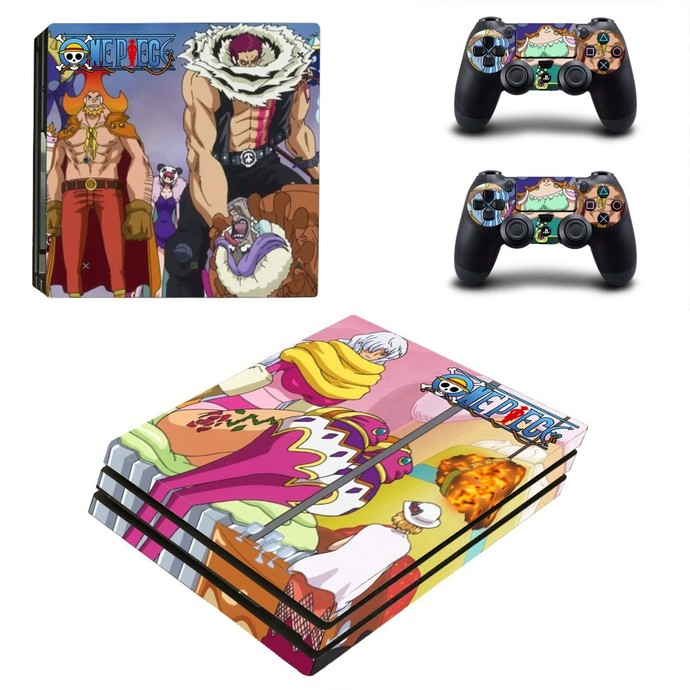 One Piece PS4 PRO edition skin Sticker decal Console and controllers