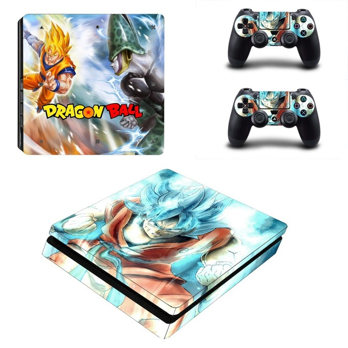 Dragon Ball Z ps4 slim skin decal for console and controllers
