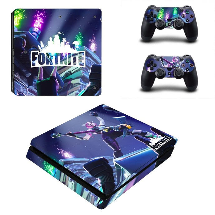 Fortinte ps4 slim skin decal for console and controllers