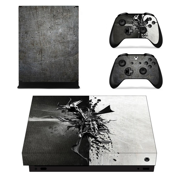 Metal Wallpaper xbox one X skin decal for console and 2 controllers