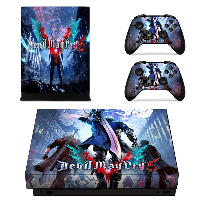 Devil May Cry 5 xbox one X skin decal for console and 2 controllers