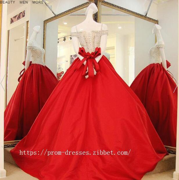 Sexy Prom Dresses, Prom Dresses Fashion Prom Dresses Red