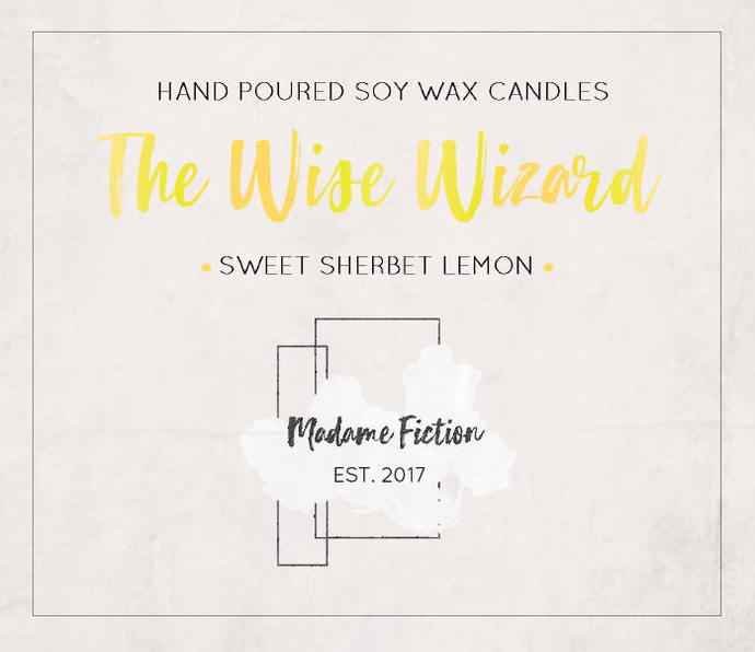 The Wise Wizard - 8oz Candle - Wizard Inspired - Scented Soy Candle - Book Lover