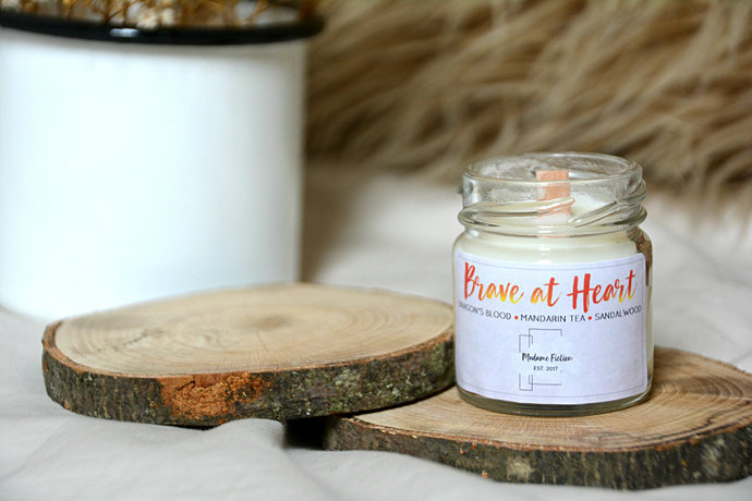 Brave at Heart - 1.5oz Candle - Hogwarts Inspired - Scented Soy Candle - Book