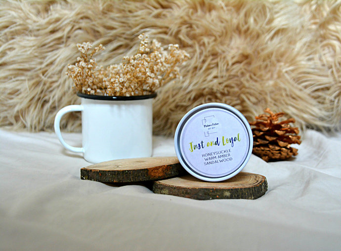 Just and Loyal - 8oz Candle - Hogwarts Inspired - Scented Soy Candle - Book