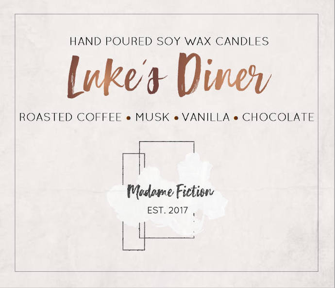 Luke's Diner - 8oz Candle - Gilmore Girls - Scented Soy Candle - Book Lover Gift