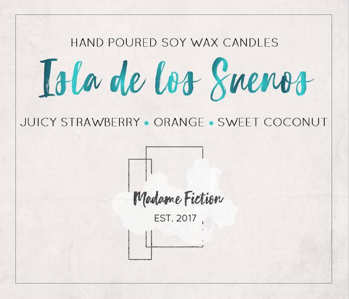 Isla de los Suenos - 8oz Candle - Caraval - Scented Soy Candle - Book Lover Gift