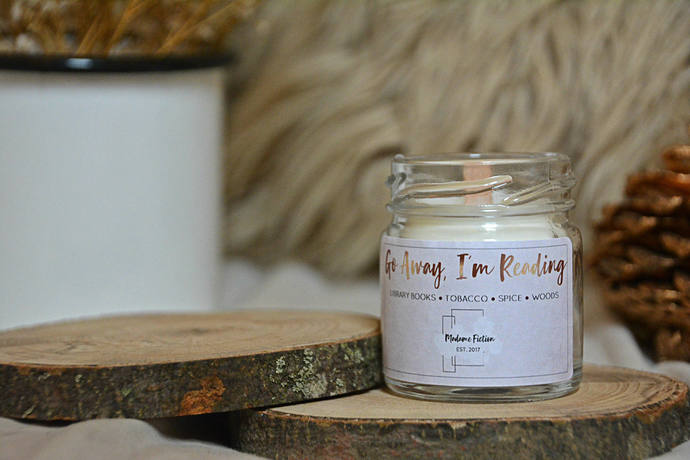 Go Away, I'm Reading - 1.5oz Candle - Bookish Candle - Scented Soy Candle - Book