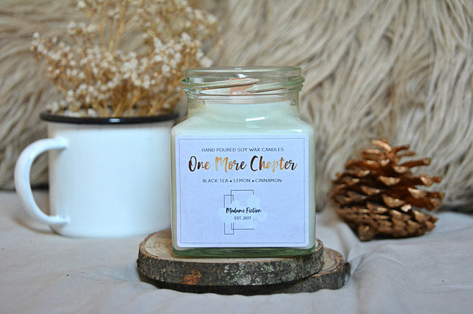 One More Chapter - 8oz Candle - Bookish Candle - Scented Soy Candle - Book Lover