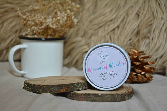 Woman of Wonder - 4oz Candle - Wonder Woman - Scented Soy Candle - Book Lover