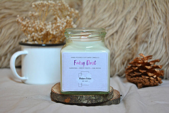 Fairy Dust - 8oz Candle - Disney Inspired - Scented Soy Candle - Book Lover Gift