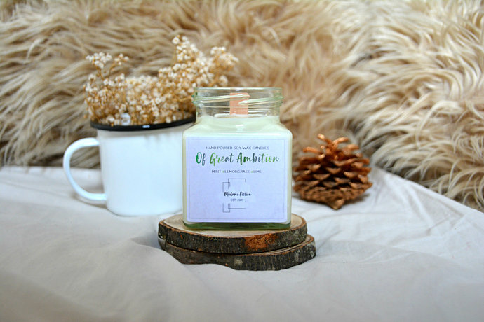 Of Great Ambition - 8oz Candle - Hogwarts Inspired - Scented Soy Candle - Book