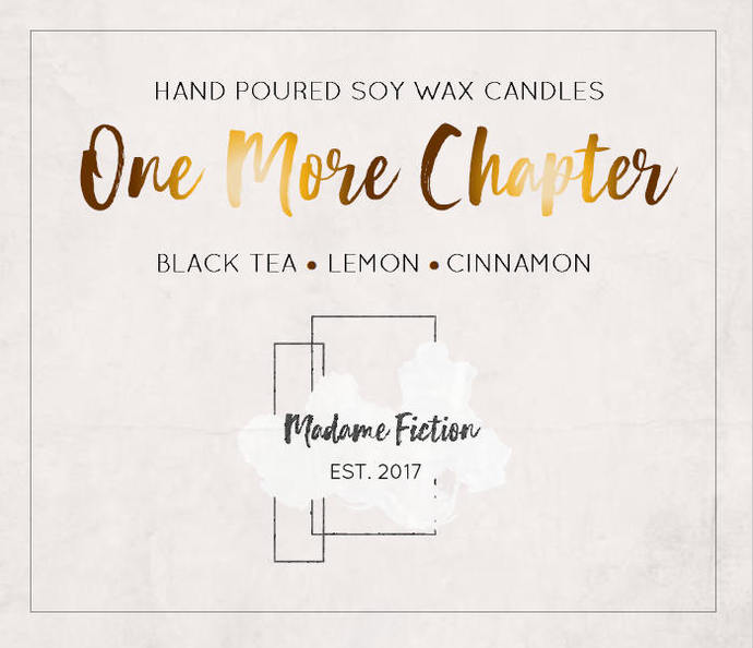 One More Chapter - 1.5oz Candle - Bookish Candle - Scented Soy Candle - Book
