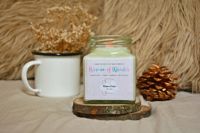 Woman of Wonder - 8oz Candle - Wonder Woman - Scented Soy Candle - Book Lover