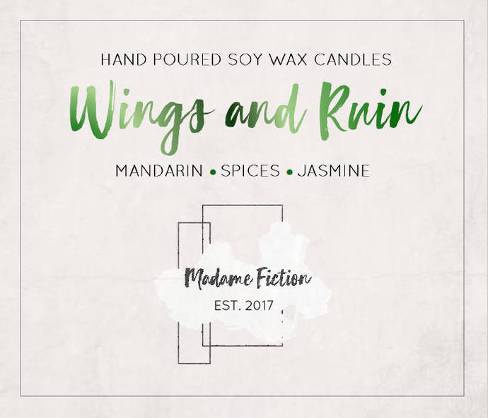 Wings and Ruin - 1.5oz Candle - ACOWAR - A Court of Wings and Ruin - Scented Soy