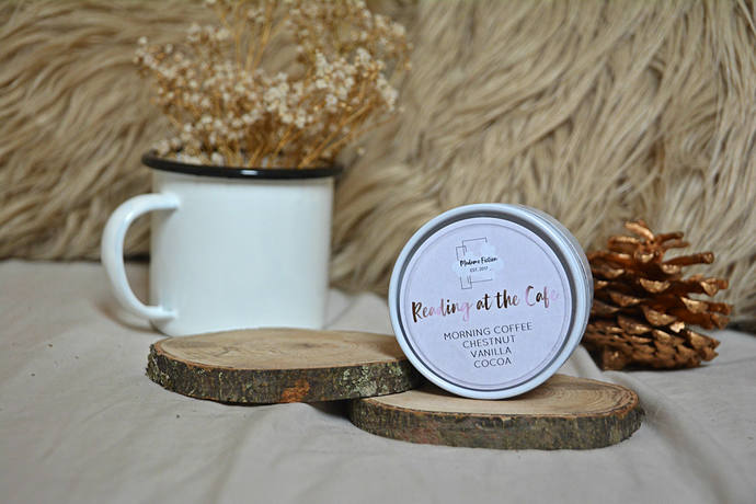 Reading at the Cafe - 4oz Candle - Bookish Candle - Scented Soy Candle - Book