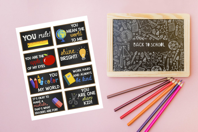 Back to School Tags. Motivational tags- Back to School. PDF- Instant Download