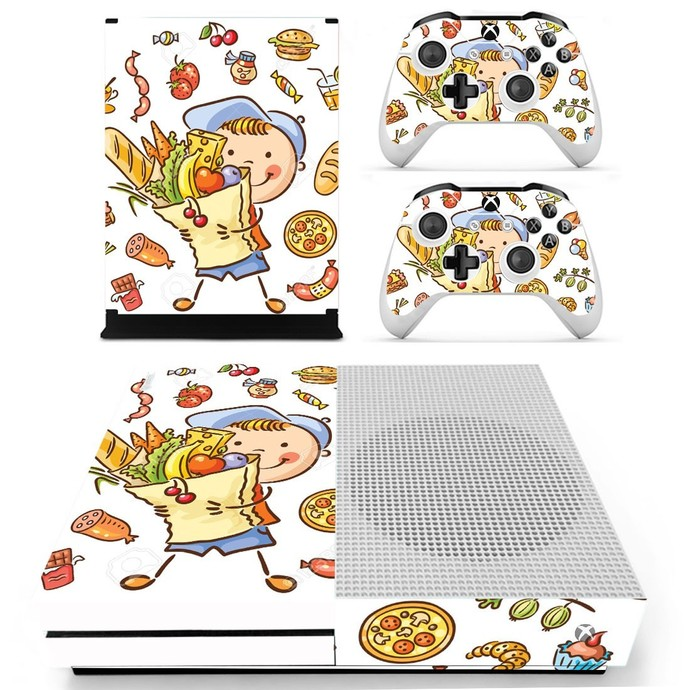 Dragon Ball Z decal skin for xbox one S console and 2 controllers