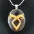 Angelic power rune pendant