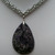 Jasper necklace, chainmaille jewelry, purple stone