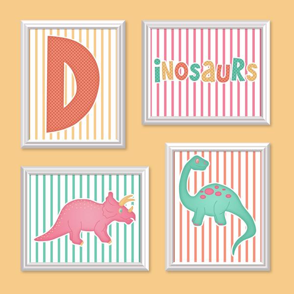 Dinosaurs Set 1 - Printable Wall Art