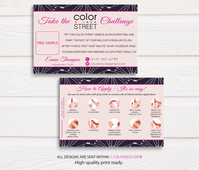 Color Street Challenge, Color Street Free Sample, Color Street Twosie Card,