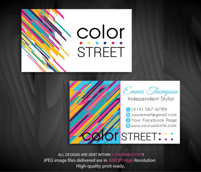 Personalized color street business cards color by digitalart on personalized color street business cards color street business cards color reheart Images