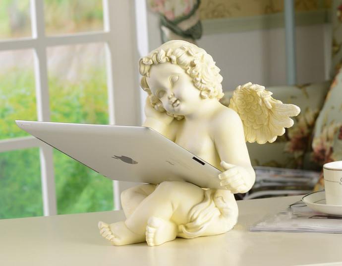 Cupid statue creative IPAD holder romantic figure crafts bedroom decoration