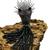 925 Sterling Silver Gemstone Black Spinel Ruby Panther Beaded Pendant Tassel