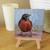 "American Robin Original Oil Painting on 4x4"" Canvas, Bird Art, Small Paintings,"
