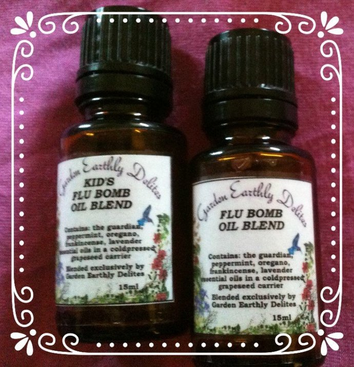 The Flu Bomb and KIDS Flu Bomb Essential Oil Blend, Natural Remedies