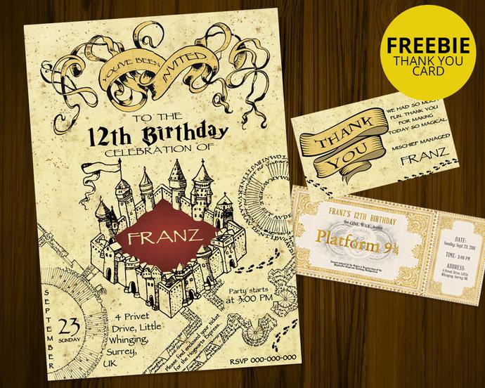 Harry potter birthday invitation marauders by designsbylyg on harry potter birthday invitation marauders map birthday invitation harry filmwisefo