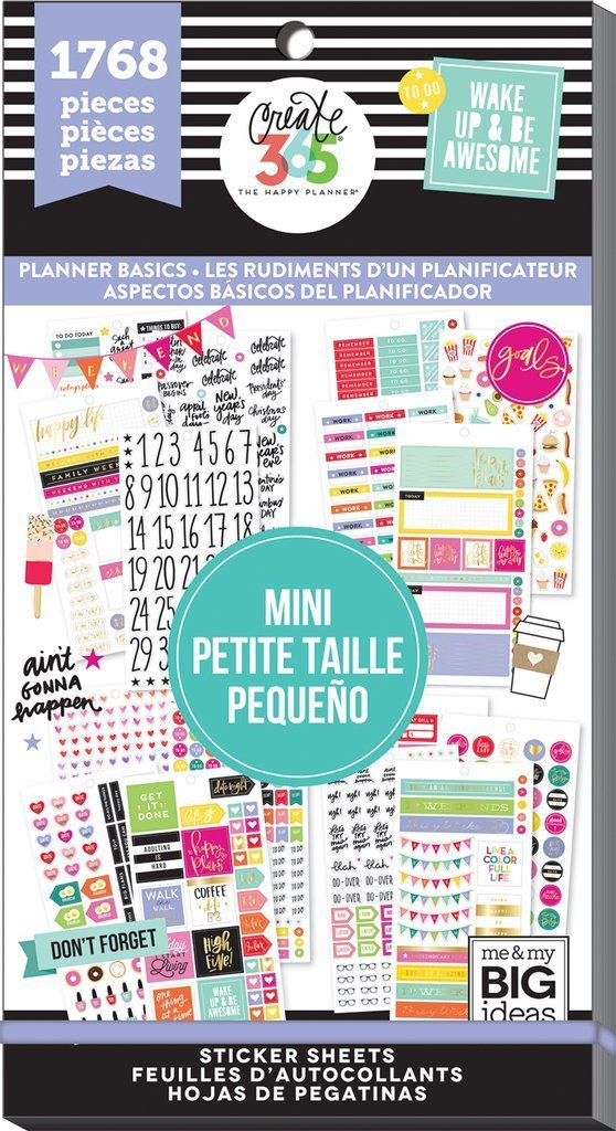 40% off Planner Basics MINI Happy Planner Value Stickers Book - Use with  MINI Happy Planner - 1768pc - Planner Icons Box Stickers