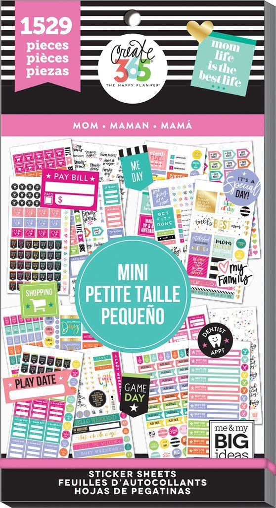 40% off Mom MINI Happy Planner Value Stickers Book - Use with MINI Happy  Planner - 1529pc - Mother Planning Stickers