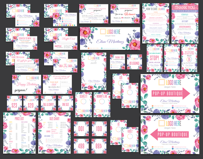 Lularoe FULL Digital Marketing Kit, Lularoe Business Kit, Watercolor Cards,