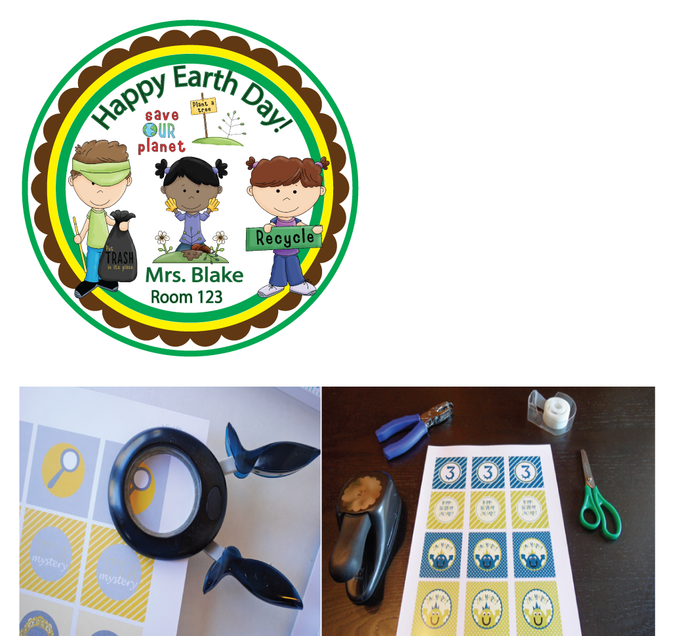 DIY  SAMPLE IS ATTACHED! Mexican  Sticker Tags- Birthday Party Favor  Treat Tag